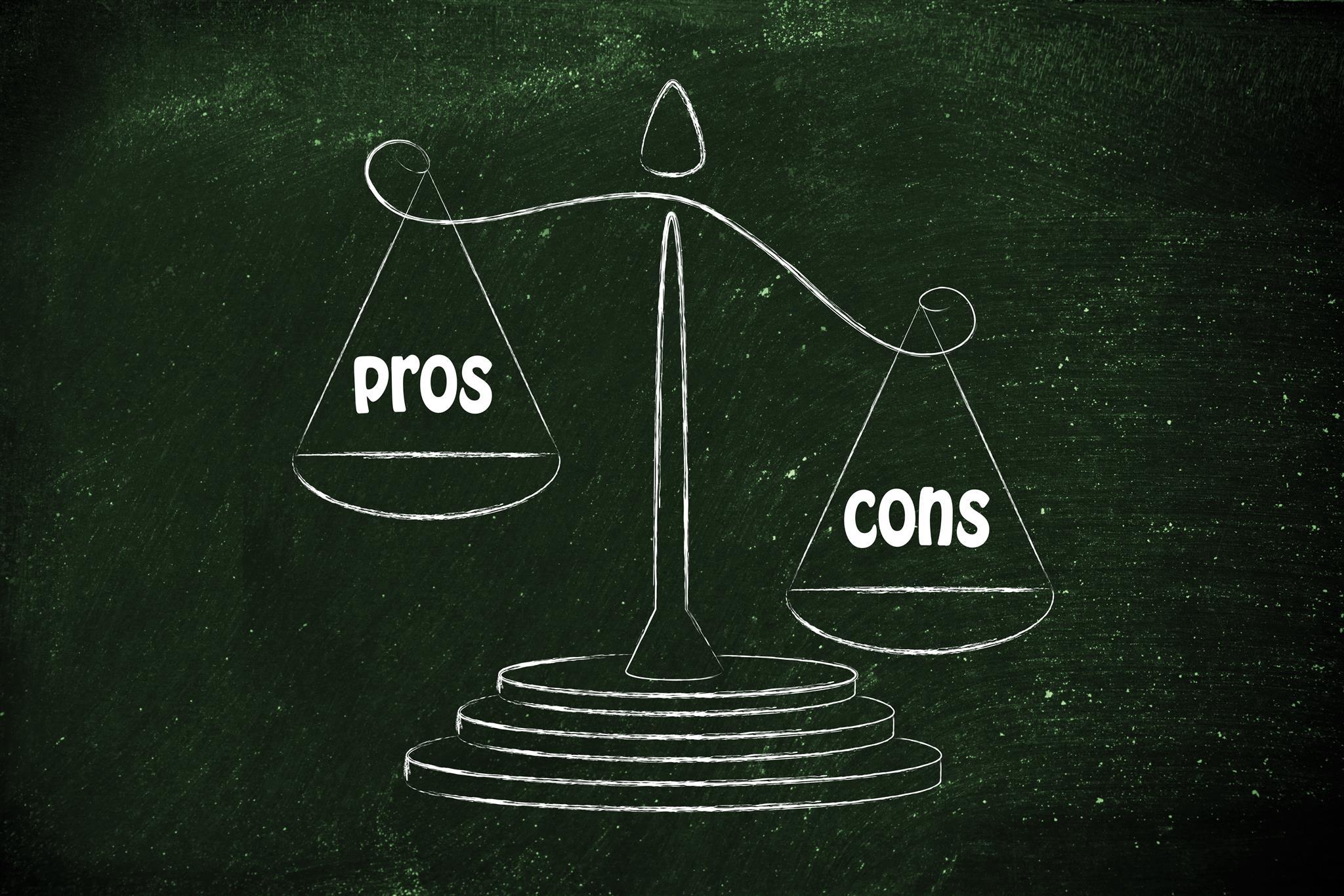 Pros and Cons là gì và cấu trúc cụm từ Pros and Cons trong câu Tiếng Anh